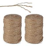 Cuerda de cuerda de yute natural ecol/ógica Guita de yute negro 6 mm de di/ámetro 65 pies