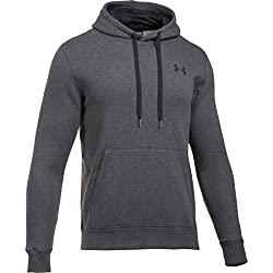 Under Armour Rival Fitted Pull Over Parte Superior del Calentamiento, Hombre, Gris, L