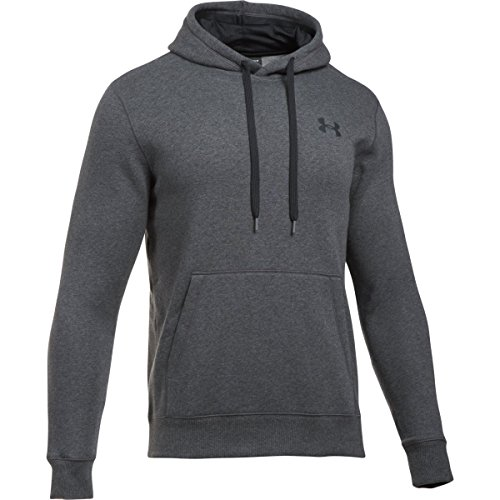 Under Armour Rival Fitted Pull Over, Felpa Uomo Grigio Carbone