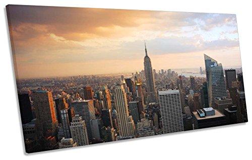 Sunset Ciudad Nueva York Skyline Caja Marco Lienzo