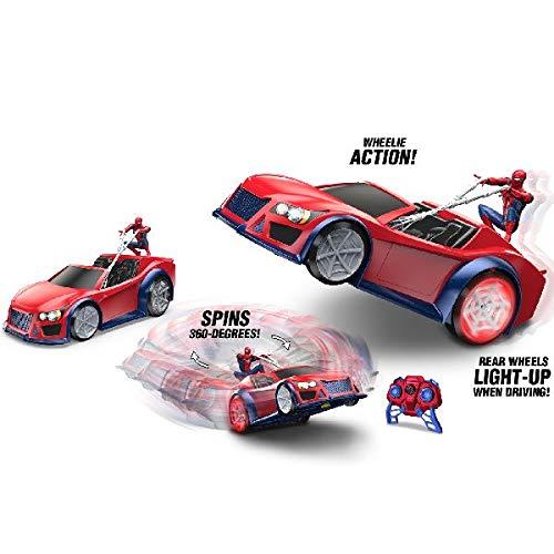 Spiderman 9094Marvel RC Web Wheelie electrónico Juguete