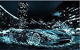 TianMai Heiß DIY 5D Diamant Malerei Kit Kristalle Diamant Stickerei Strass Malerei Kleben Malen nach Zahlen Stich Kunst Kit Zuhause Dekor Mauer Aufkleber - Wasser Sport Auto, 30x45cm