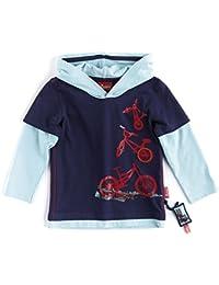 Sigikid Jungen Langarmshirt Sigikid Mini Boy - Kollektion Bike Tour - Kapuzenshirt, Mini