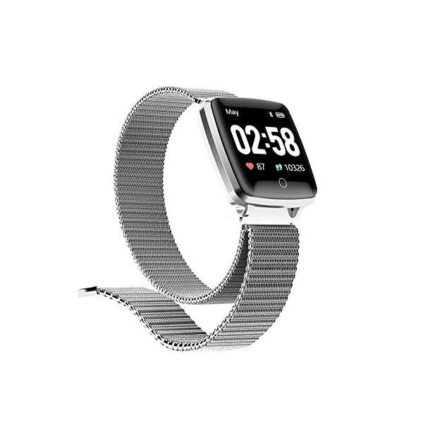 Reloj SAMA Fitness Trackers,Monitor de Frecuencia Cardíaca IP67,Rastreador de Actividad a Prueba de Agua,Reloj de Calorías Para Podómetro Con Pantalla a Color y Monitor de Sueño,Pulsera Inteligent 3