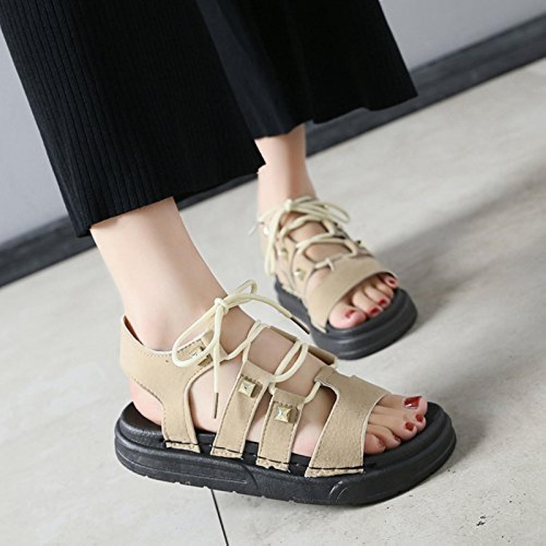 GAOLIM Schuhe Sandalen Frauen Flach Sommer Wilde Studenten Schuhe Sandalen Gurt.