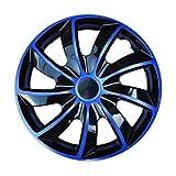 Radkappen / 4 x Universal Radzierblenden - QUAD blau (14')