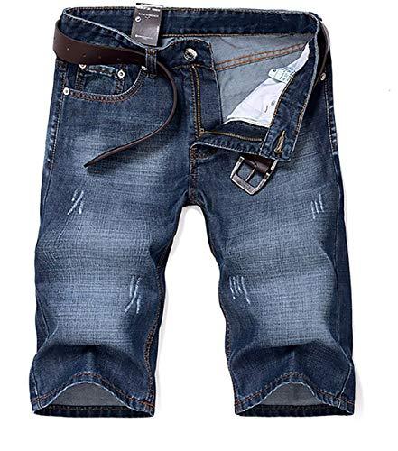 Herren Denim Jeans Shorts Sommer kurze Hose