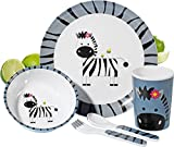 Esmeyer Stripes - Set di stoviglie per bambini STRIPES con la zebra 100% melammina