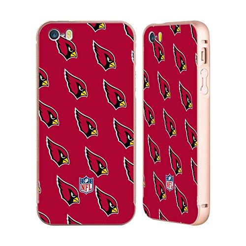 Ufficiale NFL LED 2017/18 Arizona Cardinals Oro Cover Contorno con Bumper in Alluminio per Apple iPhone 5 / 5s / SE Pattern