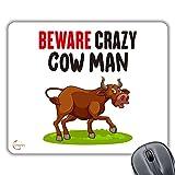CP584Beware Crazy Cow uomo novità regalo stampato PC computer portatile del mouse pad