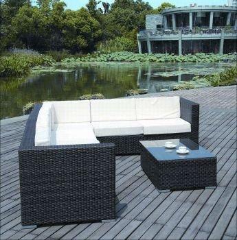 Rattan lounge schwarz  Amazon.de: Deluxe Rattan Lounge KORSIKA 5 teilig 3 Jahre Garantie ...