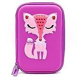 SOOCUTE Astuccio rigido, portamatite elegante, EVA con grande capacità per studenti bambini Purple