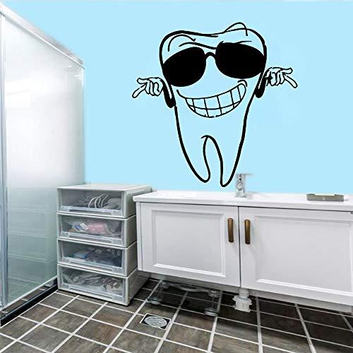 hllhpc Cartoon zähne Wandaufkleber Dekorative Aufkleber Wohnkultur für Wohnzimmer Unternehmen Schule Büro Dekoration Wohnkultur 43 * 43 cm