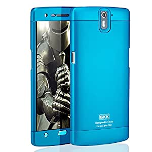 Armor GKK Full Body Protector Hard Back Case Cover For OnePlus One 1st Gen [Blue+Blue+Blue]