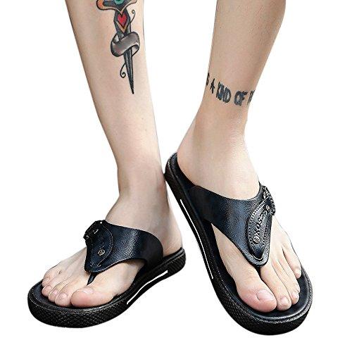 Sandali, unisex adulto styledresser uomo sandali in pelle back-strap open toe sandali business casual holiday beach pantofole morbide estate infradito scarpe