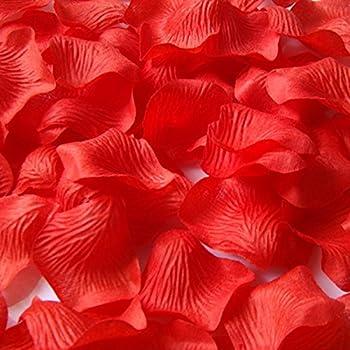 500 Stück/Set Rosenblüten, Rosenblätter, Blumenblätter aus Seide, für Hochzeit Feier, romatische Überraschung 1 Set=500 Stück, 2 Set=1000 Stück (rot, 1 Set)