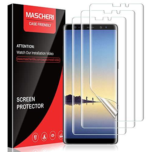 MASCHERI Schutzfolie für Samsung Galaxy Note 8, [3 Stück] [TPU-Folie [kein Glas] HD Soft Displayschutz Displayschutzfolie Display Folie für Samsung Galaxy Note 8
