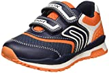 Geox Jungen J Pavel A Sneaker Blau (Navy/Orange C0659) 39 EU