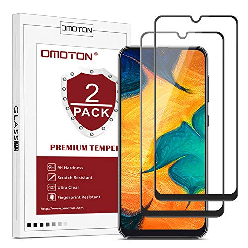 omoton [2 pezzi pellicola vetro compatibile con samsung galaxy m30 full screen pellicola protettiva in vetro temperato, 3d edge to edge senza bolle anti-impronte anti-graffi