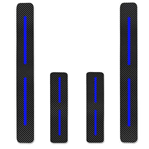 Einstiegsleiste Schutz Aufkleber Reflektierende Lackschutzfolie für Combo Cargo Vivaro Movano Einstiegsleisten Blau 4 Stück
