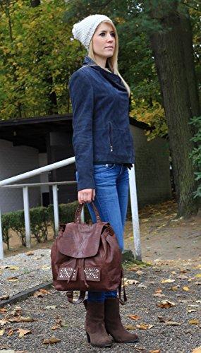 Rodhschild, Borsa a zainetto donna marrone marrone chiaro grau