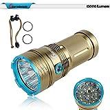 giarebeam Wasserdicht LED Taschenlampe 12000 Lumen 12 x CREE XM-L T6 Taschenlampe Lampe für Home und Outdoor