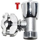 TDSpares Kit robinet autoperceur pour tuyaux en cuivre 10-16 mm avec inserts rouge et bleu pour chaud ou froid