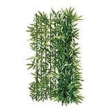 Balkon-Sichtschutz Bambus - Zuschneidbar - Grün 3 x 1 M