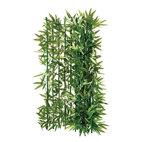 Balkon-Sichtschutz Bambus zuschneidbar grün ca. 3 x 1 m