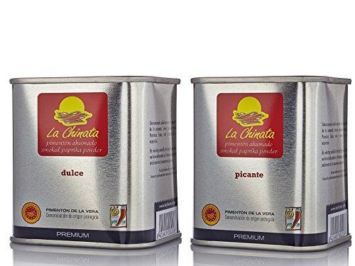 La Chinata Pimentón Ahumado PREMIUM pack - Lata 70g Dulce y Lata 70g Picante