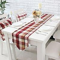 GS~LY Arredamento/romantico/caldo/cotone stampato spesso plaid Unione tabella tabella tabella tabella di tè panno di stoffa per home hotel ristorante party , vino rosso , cm 30*220