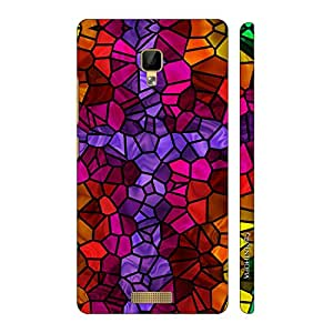 Enthopia Designer Hardshell Case Mosaic Cross Back Cover for Gionee P7 Max