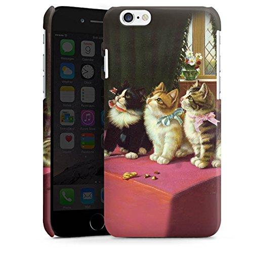 Apple iPhone 4s Housse Étui Silicone Coque Protection Paul Klee Des chats et un perroquet Art Cas Premium brillant