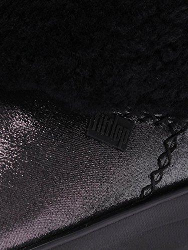 FitFlop Mukluk Shorty 2 Shimmer Boots, Bottes Classiques femme Noir