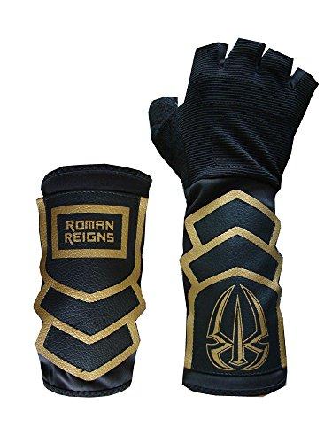 Unbekannt Handschuh & Schweißband Set Roman Reigns Gold