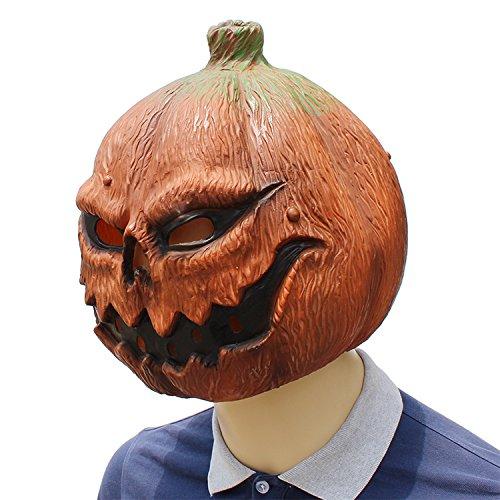 DOKJ Naturlatex Kürbis Kopf Maske, Luxus Neuheit Halloween Kostüm, Lustige Cosplay Erwachsene Partei Volle Kopfmaske