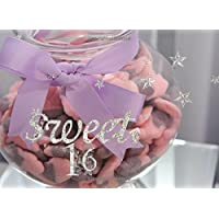 "Sweet 16: Bling Candy | Guest Book | Message Book | Keepsake | Use For: Birthdays 60 blank pages, 8.25"" x 6"", soft back cover - Teenager Gift Card"