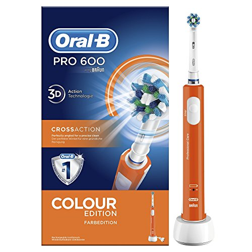 Oral-B Pro 600 Crossaction Orange Edition Braun Spazzolino Elettrico Ricaricabile