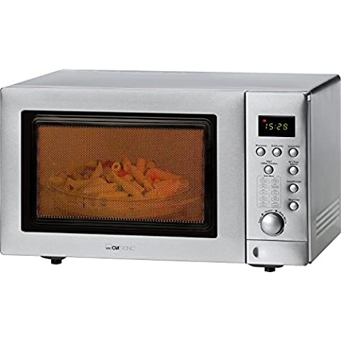 Clatronic MWG 779 H - Microondas con doble grill (25 litros, 900 W), acero