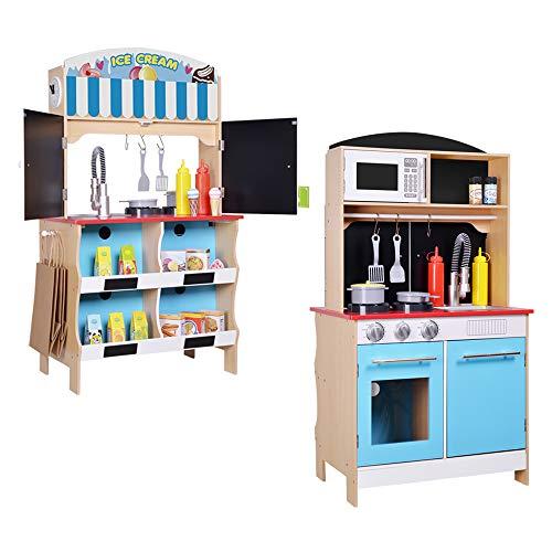 ColorBaby - Cocina madera 60 x 40 x 109 cm - Heladería...