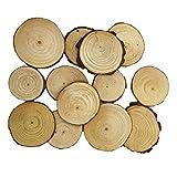 MagiDeal Holzscheiben 20/50st Holz Log Scheiben Scheiben für DIY Handwerk Hochzeit Mittelstücke - Farbe 2, 20pcs 5-7cm
