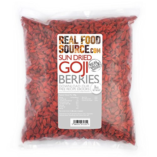 RealFoodSource Goji Berries 1kg Free From Preservatives & Sulphites Test