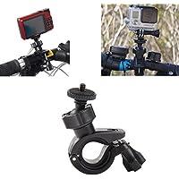 InnoMagi Bike Handbar Monte Fast Clip Release Dia 17-35mm + Adattatore treppiede + Vite lunga con Cappuccio per GoPro Eroe 1 2 3 3+ Altro Fotocamera Sport - Nero