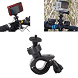 Support Pince Clamp Fixation Guidon Vélo Moto pour Caméra Gopro Hero 1 2 3 3+ 4 -InnoMagi