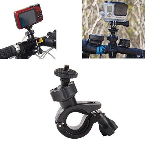 Galleria fotografica Bike Handbar Monte Fast Clip Release Dia 17-35mm + Adattatore treppiede + Vite lunga con Cappuccio per GoPro Eroe 1 2 3 3+ Altro Fotocamera Sport - InnoMagi (Nero)