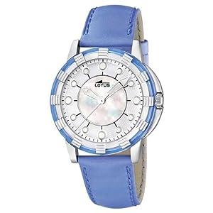 Reloj analógico Lotus 15747/3 de cuarzo para mujer con correa de piel, color azul