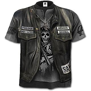 Sons Of Anarchy - Jax Wrap, Gothic Metall Fantasy alle über Druck Männer unisex T-Shirt grau - L - Spirale