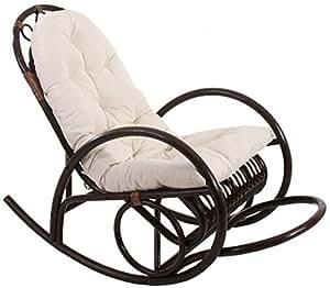 Pegane chair sedia a dondolo con cuscino colore bianco for Sedia a dondolo amazon