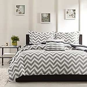 Ahmedabad Cotton Basics 160 TC Cotton Double Bedsheet with 2 Pillow Covers – Modern, White and Grey