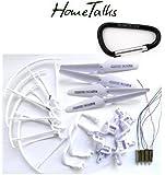 Hometalks® Syma X5 x5C x5C-1 Quadcopter Full Set Parte 4 * motori Eliche pattino di atterraggio Protezioni Motore Base + 1 Hometalks moschettone